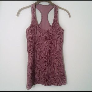 Lululemon Cool Racerback top rose snakeskin print